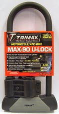 "Trimax MAX90 Maximum Security 4-1/8"" X 10-1/2"" U-Shackle Lock With 16mm  Shackle"