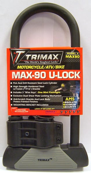 """Trimax MAX90 Maximum Security 4-1/8"""" X 10-1/2"""" U-Shackle Lock With 16mm  Shackle"""