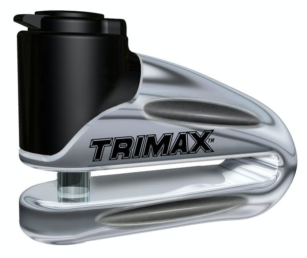 Trimax T665LC Hardened Metal Disc Lock 10Mm Pin (Long Throat) with Pouch - Chrome