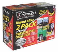 Trimax TCL265 Deluxe Wheel Chock Lock Keyed Alike Two Pack-Medium