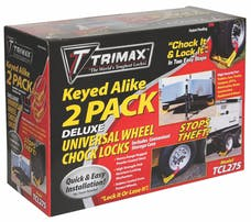 Trimax TCL275 Deluxe Wheel Chock Lock Keyed Alike Two Pack-Large