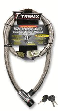 "Trimax TG3072SX Ironclad High Security Armor Plated Stainless Steel  Locking Cable 72"" X 26"