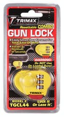 Trimax TGCL44 TRIMAX-Max-Security Combo Gun Lock, Single Pack