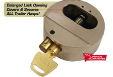 "Trimax THPXL TRIMAX ""Hockey-Puck"" Internal Shackle Trailer Door Lock -Universal Fit (Re-"