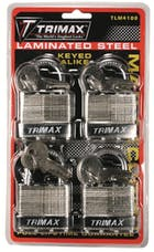 Trimax TLM4100 4-Pack Of Keyed Alike Tlm100 Padlocks