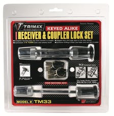 "Trimax TM33 TRIMAX T3 - 5/8"" Receiver & TC3 - 3-1/2"" Span Coupler Lock"