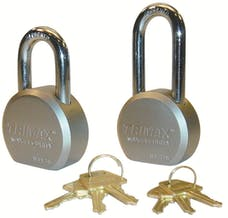 "Trimax TPL1251S TRIMAX Hardened 64mm Solid Steel Padlock with 1.25"" X 11mm Dia Shackle (Re-"