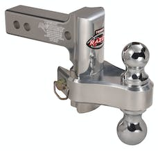 "Trimax TRZ4ALRP 4"" Pin & Clip Aluminum Drop Hitch-Dual Ball Included"