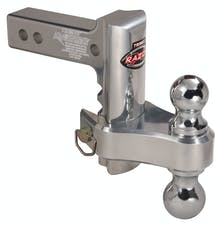 "Trimax TRZ6ALRP 6"" Pin & Clip Aluminum Drop Hitch-Dual Ball Included"