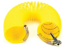 VIAIR 00037 35 Ft. Coil Hose  with 1/4in M Swivel  with Close Ended Clip-On Chuck