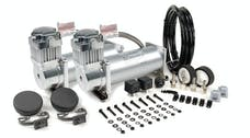 VIAIR 45012 Dual Silver 450C Value Pack 450C/2  110/145 P. Switch  40 Amp Relay/2