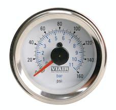 VIAIR 90083 2in Dual Needle Gauge White Face  Illuminated  160 PSI