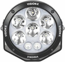 "Vision X 1236116 Single 6.7"" Cannon Adventure Halo 8 LED Light Mixed Beam"