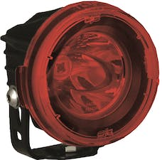 Vision X 9889719 Optimus Round Series PCV Red Cover Clear