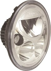 "Vision X 9891217 Single 7"" Round Vortex LED Headlight with Low-High-Halo"