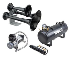Wolo Manufacturing Corp. 847-858 SIBERIAN EXPRESS PRO Powerful Train Horn. Three ABS Black Trumpets, Metal Painte