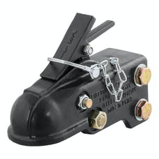 """CURT 25328 2-5/16"""" Channel-Mount Coupler with Easy-Lock (15,000 lbs., Black)"""