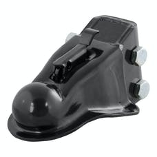 """CURT 25330 2-5/16"""" Channel-Mount Coupler with Easy-Lock (14,000 lbs., Black)"""