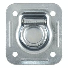 "CURT 83600 1-1/2"" x 1-1/2"" Recessed Tie-Down Ring (5,000 lbs., Clear Zinc)"