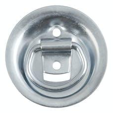 "CURT 83710 1-1/8"" x 1-5/8"" Recessed Tie-Down Ring (1,000 lbs., Clear Zinc)"