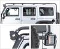 Go Rhino 59948300T Overland Rack/Roof Cage with WLF Windshield  Light Mount Frame