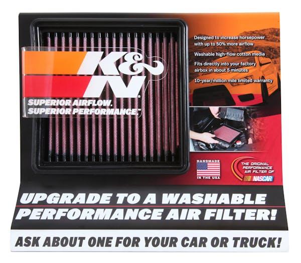 K&N 87-5038 Display; Small Air Filter