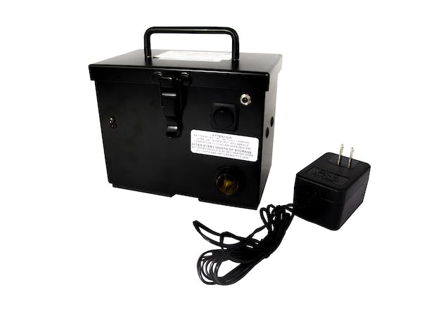 Race Sport Lighting RS-CHARGEBOX 12V Black Rechargeable Battery Box with Pigtail Plug & Clips
