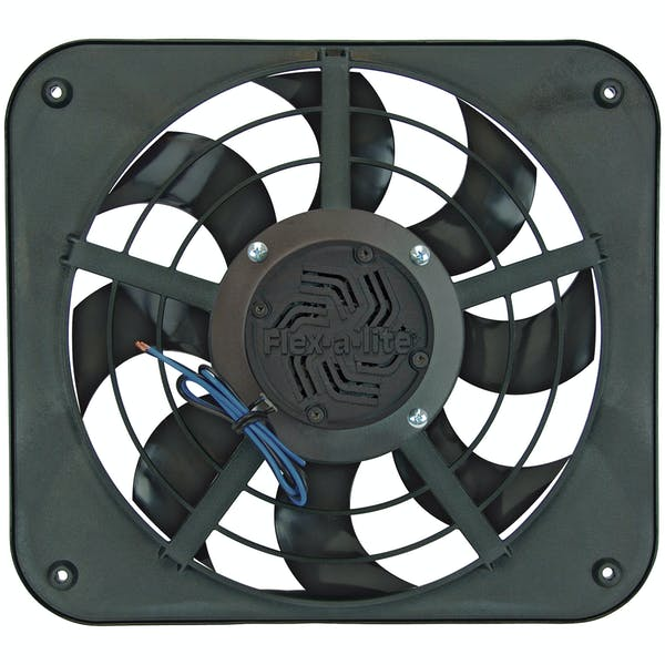 "Flex-A-Lite 115 Fan Electric 12"" single shrouded X-treme S-blade pusher or puller w/ controls"