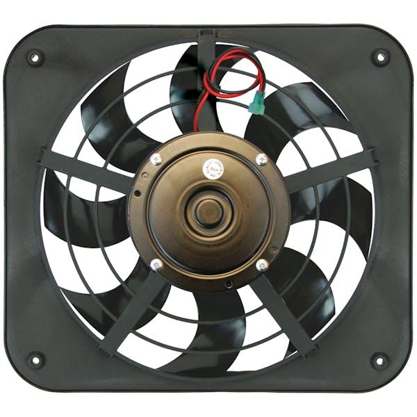 """Flex-A-Lite 133 Fan Electric 12"""" single shrouded Lo-Profile S-blade pusher fan w/ controls"""
