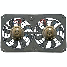 "Flex-A-Lite 430 Fan Electric 12 1/8"" dual shrouded pusher Lo-Profile S-blade w/var speed control"