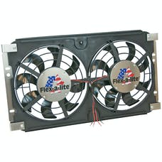 "Flex-A-Lite 573 Fan Electric 12"" dual shrouded puller S-Blade w/ controls 73-86 Jeep CJ"