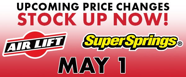 April Price increases title image