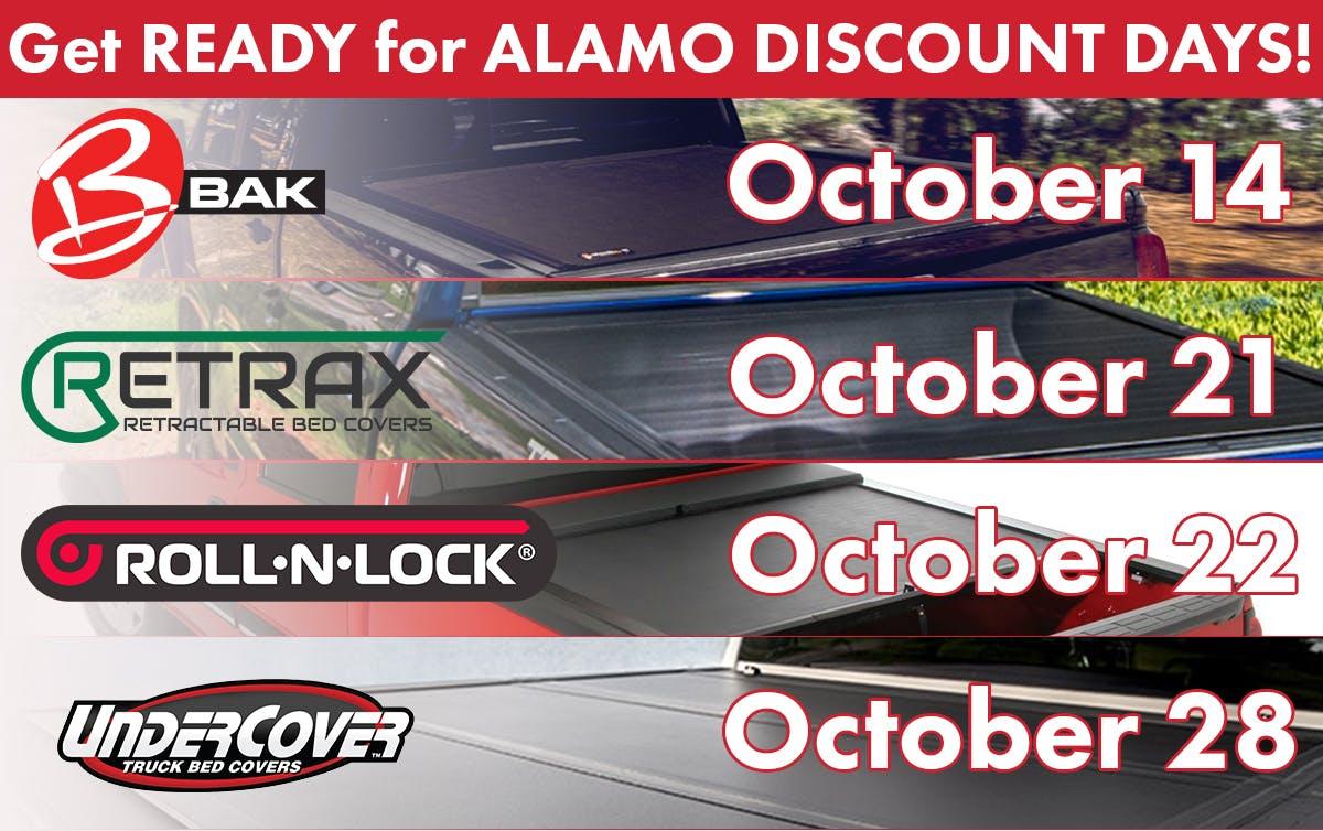 Alamo Discount Days Oct title image